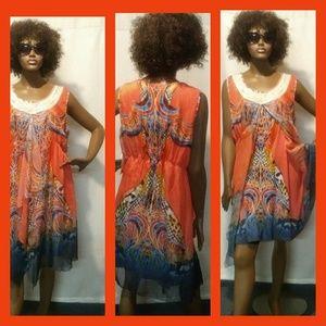 NWT One World Overlay Dress